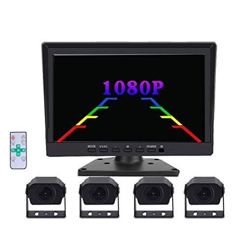 EUYBDZSW Kit de Sensor de Aparcamiento La Imagen de inversión de Alta definición de la grabadora de conducción panorámica panorámica de 360 Grados se Puede Grabar, Adecuada para RV
