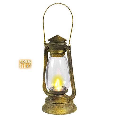 Widmann vd-wdm9530l Lanterne avec lumière LED vacillante, Or, Taille Unique
