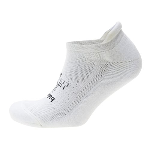 Balega Hidden Comfort No-Show Running Socks for Men and Women (1 Pair), White, Small