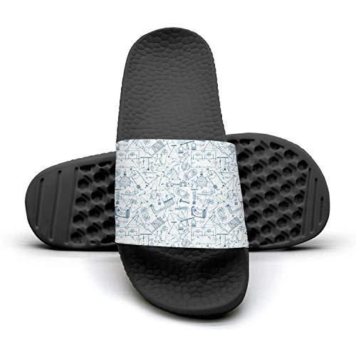 Physics Knowledge Mathematics Philosophyblack Man Best Slipper Lightweight Open Toe Flat Sports Slide Sandal