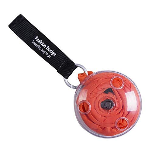 leanBonnie Mini-Disc Shopping Aufbewahrungstasche, tragbar, vielseitig einsetzbar, großer Platz, einfacher Schulterriemen, einfaches Design, Orange