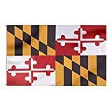 FLAGBURG 2 Pack Maryland State Flag 3x5 FT, MD Flags with Double Printed Vivid Color and Fade Proof, State of Maryland flag with Brass Grommets