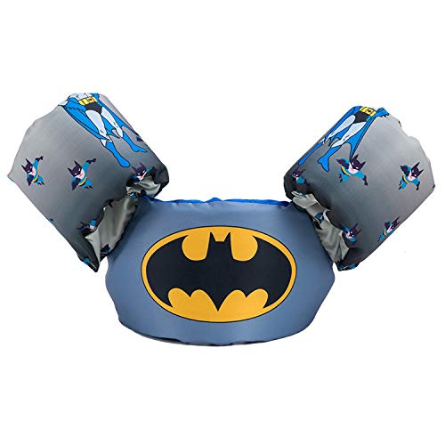 JKSPORTS Baby Floats for Pool,Kids Life Jacket from 30 to 50lbs, Compatible 20-30 Pounds Infant/Baby/Toddler, Swim Vest with Arm Wings for Boys and Girls (Batman)