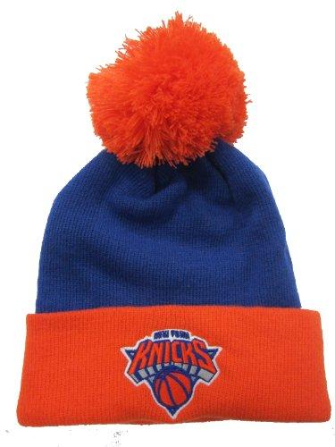 adidas Nueva York Knicks Azul/Naranja con Tapa/de Punto Pom Beanie