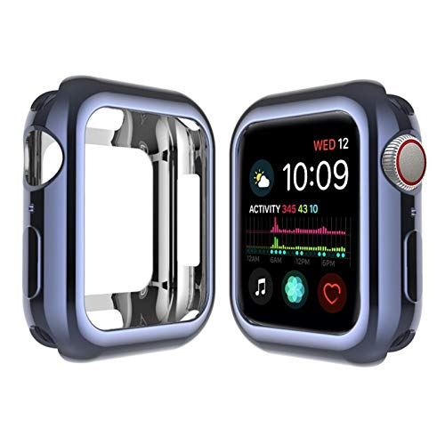 GZMYDF Caso de Cubierta de Reloj para Apple Watch 6 5 4 40mm 44mm Placa Protectora TPU Slim Soft para iWatch Series 3 2 1 38mm 42mm Accesorios (Color : Gun Metal, Dial Diameter : For 42MM)