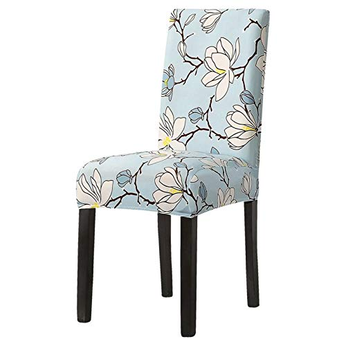CHENGTAO Stretch Floral Chair Cover Home Esszimmer Multifunktions Spandex Elastische Tuch (Color : B12, Specification : 2Pcs)