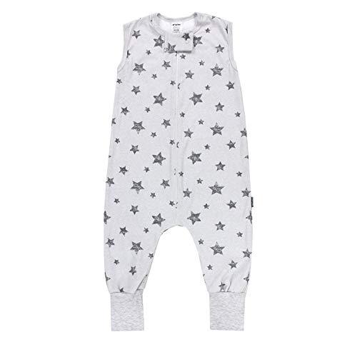 TupTam Saco de Dormir con Piernas de Verano para Bebés, Estrellas Gris, 104-110