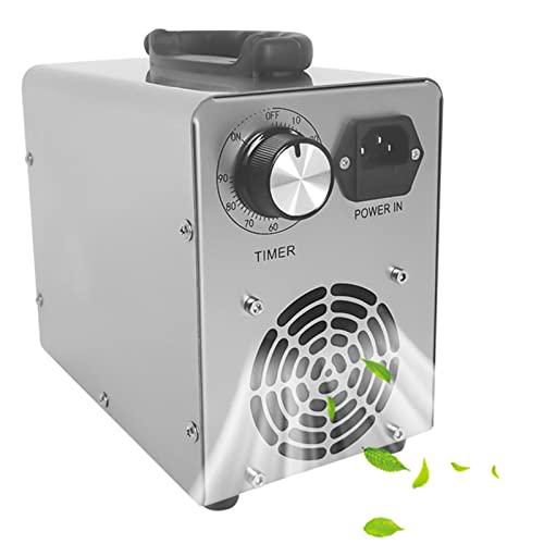 RDJSHOP Generador de Ozono Profesional, Maquina ozono con Temporizador para Hogar, Garajes, Granjas, Hoteles y Mascotas, Purificador de Aire,White-20000mg/h