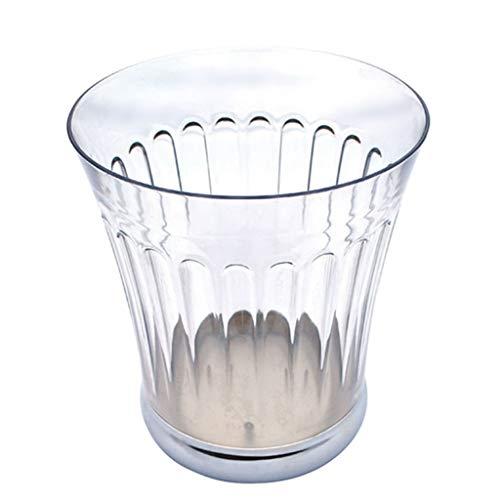 Basurero para Cocina Bote de basura de estilo nórdico, sin tapa, antideslizamiento, bote de basura de plástico para el hogar, decoraciones caseras simples transparentes creativas Cubo De Basura Cubo d
