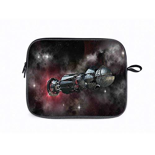 Galaxy Spaceship on 14 Inch Laptop Messenger Bag Compatible with Fujitsu, Lenovo, HP, Samsung, Sony