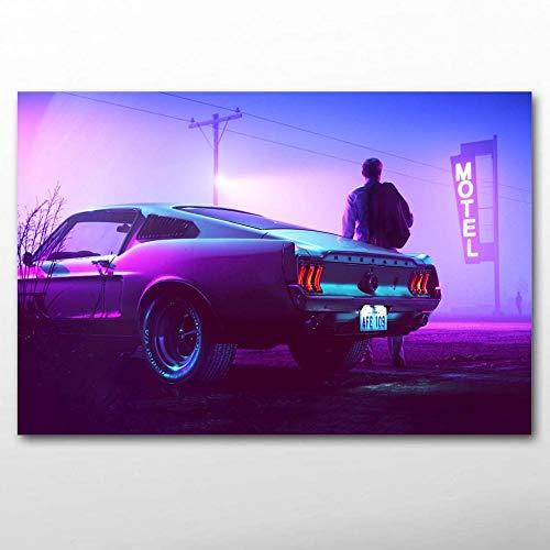 1000pcs_Adult Puzzle_Muscle Car Vintage Car Morado_Juguetes educativos para Adultos ensamblados de Madera Juegos educativos para niños Juguetes_50x75cm