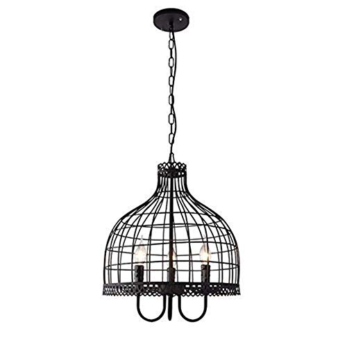 GYW-YW Pendant Lights Pendant Lights, Retro Birdcage Chandelier, Restaurant Attic Chandelier, Bar Cafe Clothing Store Chandelier, Adjustable Hanging Chain Creative Personality Living Room Light,42 * 4