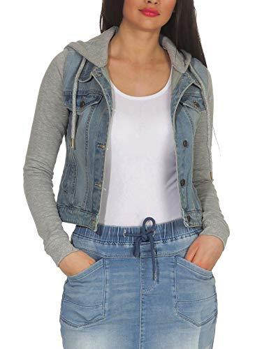 Hailys Zg Damen L Jacke 2 Jeans Cora In1 Look Mit Sweatkapuze 1705031 Blue tshQrdCx