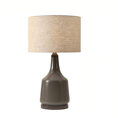 ZWL Lampe de Table En Céramique, Minimalisme Lampe de Bureau Chambre Lampe de Chevet Hôtel Villa Lampe Salon Mariage Chambre Décoration Nostalgique Tissu Lampe de Table Luminaires E27 Porte-Lampe 36 * 57 CM fashion.z ( Couleur : #1 )