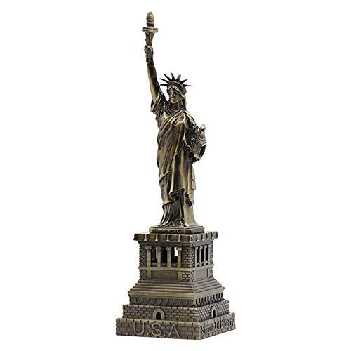 KKJJ Freiheits Statue Dekoration, Kunsthandwerk aus Legierung Statue of Liberty Modell Metall Statue Freiheitsstatue Figur für Souvenirs, Reise Souvenirs von New York die Statue von Liberty,24cm