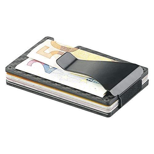 Monsterzeug Brieftasche mit Ausleseschutz, RFID Portemonnaie, Carbin/Kunststoff, grau/schwarz, 13 Karten