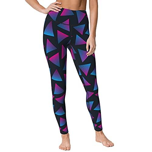 Adult 80s Triangle Print High Waist Yoga Pants. 5 Sizes available