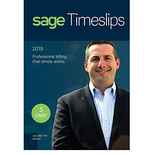 Sage Timeslips 2019, Time Tracking and Billing Software, Easy Data Entry, Over 100 Predefined Reports, Track Billable Hours, Streamline Billing Cycle, Guided Setup Wizard, Drag & Drop Design, 3-User -  Sage Software