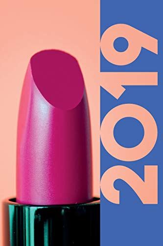 2019: Pink Lipstick Colorful Organizer Diary daily weekly and monthly calendar planner for Beauty Salon