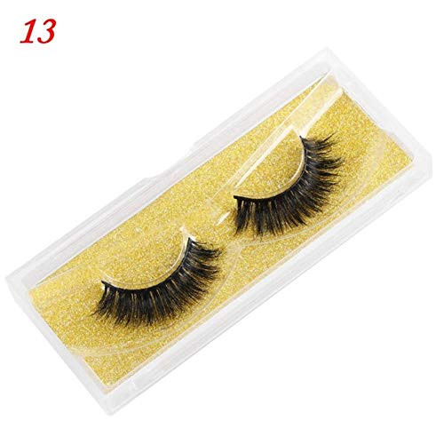 MBV Long Wispies Fluffy Handmade Cils 25MM Cils Cheveux Faux Cils Full Strips Lashes Extension, 5DL93