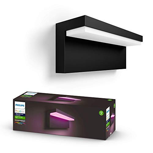 Philips Hue White and Color Ambiance LED Außenwandleuchte Nyro, dimmbar, bis zu 16 Millionen Farben, steuerbar via App, kompatibel mit Amazon Alexa (Echo, Echo Dot)