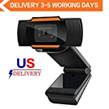 Webcam 1080P Full HD Auto Focus Web Camera with Microphone Widescreen USB Computer Camera for PC Laptop Desktop Mac Streaming Video Calling Recording Video Conference Online Teaching Business Gaming