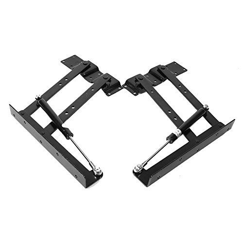 Bisagra hidráulica de elevación plegable de 2 piezas, marco de elevación superior de 100 lb, resistente para muebles de hogar, herramienta de elevación, mecanismo de mesa de centro, hardware