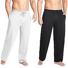 CityComfort Pantalones Largos de Pijama, Pack de 2 Pantalones Hombre De Algodón, Ropa Hombre M - 3XL (Negro/Gris, 3XL)