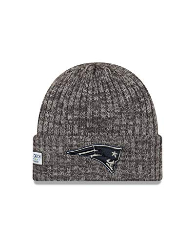 New Era New England Patriots Beanie NFL 2019 On Field Crucial Catch Knit Graphite - One-Size