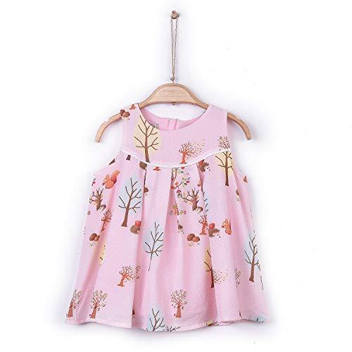 Sevira Kids - Robe bébé/enfant - légère et fluide - de 3 mois à 2 ans - Foresta