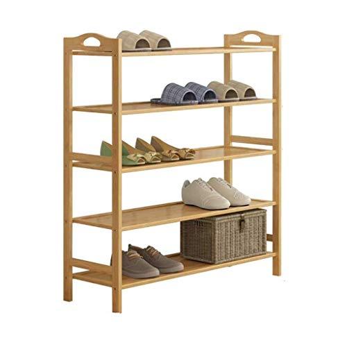 Diaod Zapato Estante, Simple Multi-Capa de la Puerta de Madera sólida del Zapato Gabinete Dormitorio Zapato Zapatero de Almacenamiento