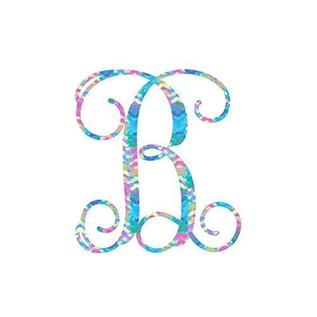 Pattern Letter B Vinyl Pattern Monogram Decal for Cup, Tumbler, Laptop, or Car - 3.25 inches