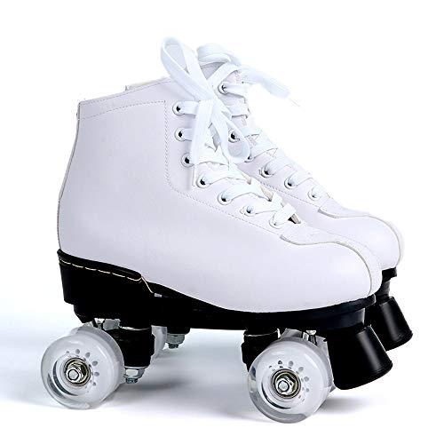 Liangzi Rollschuhe Rollschuhe Zweireihige Rollschuhe FüR Erwachsene Rollschuhe Muster Herren- Und Damen Zweireihige Rollschuhe Rollschuhe