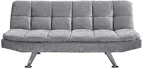 AYAYA Tejido De Lino Sofá Cama De 3 Plazas Sofá Moderno De Esquina Sofá para Salón Sala De Estar Haga Clic En Mecanismo Clack Gris,Fabric Chenille Fabric