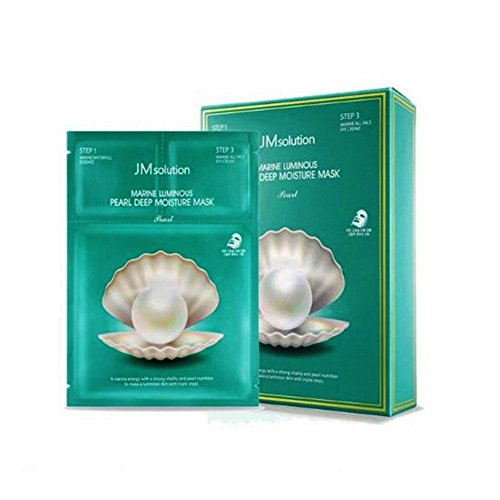 1 Box 10 PCS JM Solution Best 5 Combo Mask Sheet, Aurora, Cocoon, SOS, Marine, Propolis, JM SOLUTION (marine luminous pearl deep moisture)