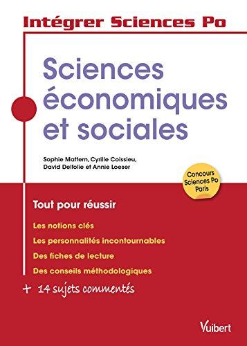 Les sciences économiques et sociales à Sciences Po (Intégrer Sciences Po) PDF Books