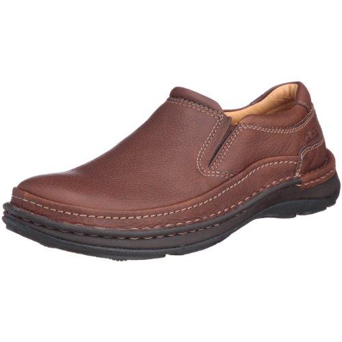 Clarks Herren Slipper, Mahogany Leather, 47 EU