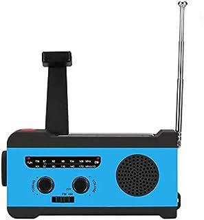 راديو - راديو لاسلكي لاسلكي TTKK لاسلكي لاسلكي لاسلكي دافئ AM/FM/NOAA للطقس، راديو للطوارئ مع كشاف LED وهاتف ذكي 2000 مللي...