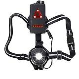 WESTLIGHT Luz de ejecución 90° Ángulo de haz ajustable, 500 lúmenes, banda reflectante de 360°, recargable por USB, luz de pecho LED de noche