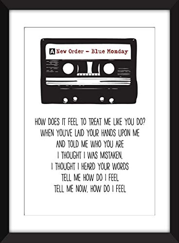 New Order Blue Monday Lyrics Unframed Print - Unframed Imprimir/Sin marco