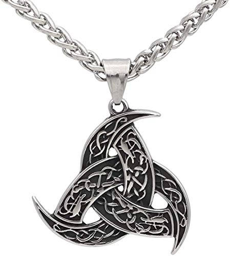 LKLFC Necklace for Women Men Men Stainless Steel Odin s Horn Wolf Pendant NecklacePendant Necklace Girls Boys Gift