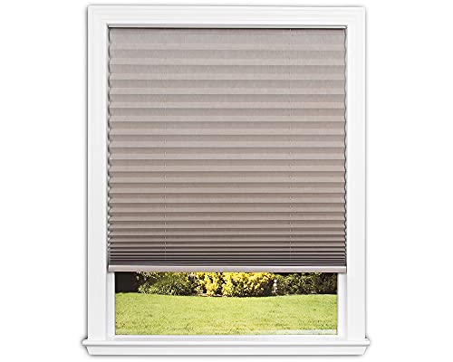 Redi Shade Easy Lift Trim-At-Home Cordless Pleated Light Blocking Fabric Shade (Fits Windows 19'-36'), 36 Inch x 64 Inch, Natural