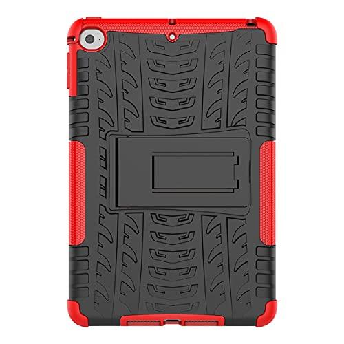 Greatangle-UK Funda Protectora Antideslizante a Prueba de Polvo y Antideslizante Funda Protectora Funda de Piel para Apple iPad Mini 4 / iPad Mini 2019 Rojo