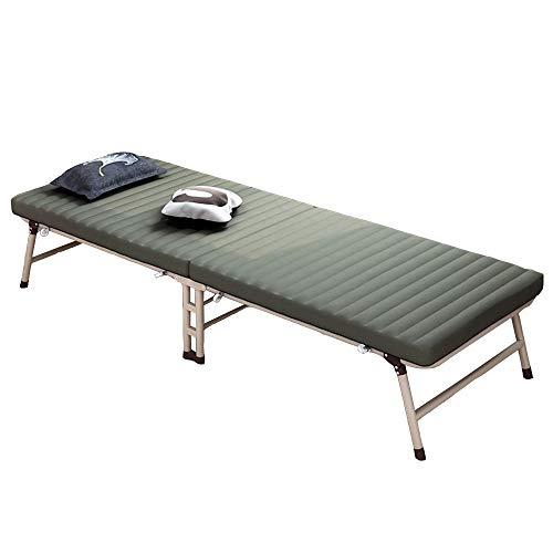 FUFU Tumbonas Jardin Exterior Sillón reclinable Hojas Plegables Personas Cama para el Almuerzo Cama Simple para la Siesta de la Oficina Cama para el Campamento para Adultos Cama acompañante con polea