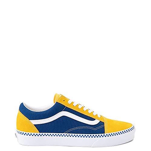 Vans Old Skool Checkerboard Skate Shoe Spectra Yellow/True Blue (9.5)