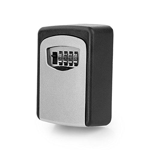 Caja de llaves de repuesto de zinc, caja de llave de cinco, caja de llave digital, deposity, seguridad de seguridad, bloqueo de seguridad para casa garaje
