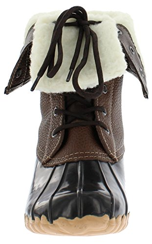 sporto Womens Daphne Duck Boot, Brown, 6