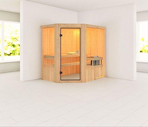 Saja - Karibu Sauna Plug & Play inkl. 3,6 kW-Ofen - ohne Dachkranz -