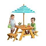 Outdoor Table w/ Benches & Umbrella