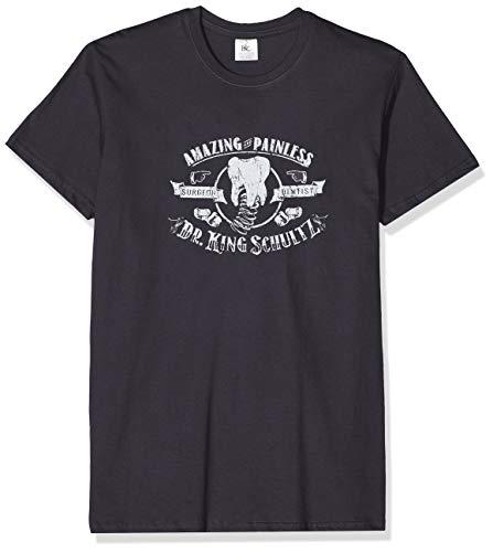 Texlab Django: Dr. King Schultz Amazing and Painless - Herren T-Shirt, Größe XL, Grau